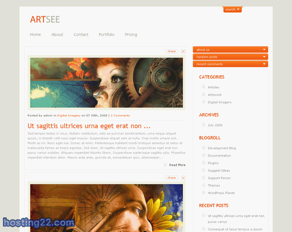 Wordpress Themes ArtSee