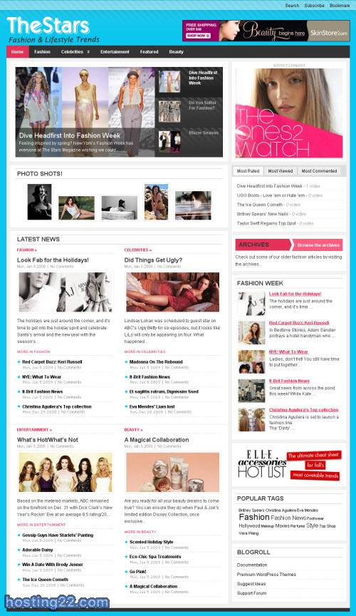 the stars premium wordpress theme