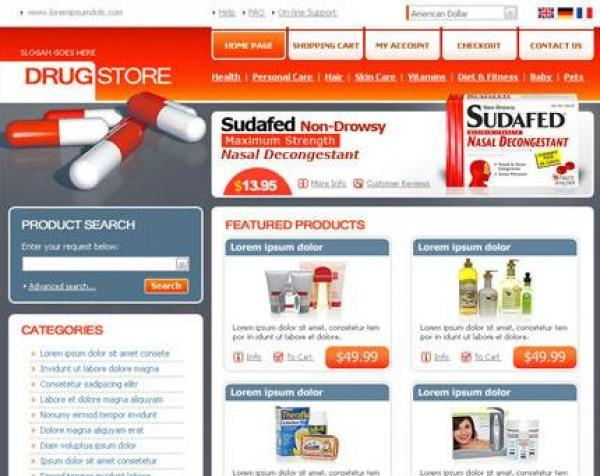 osCommerce Drug Store