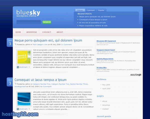 Bluesky Premium WordPress Theme