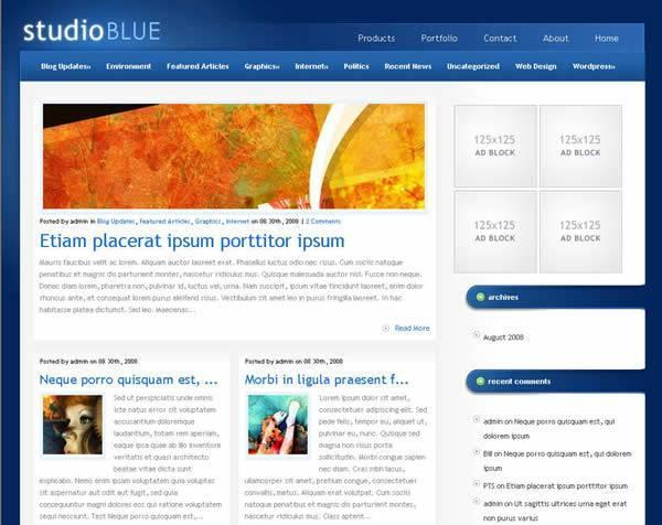 StudioBlue Premium WordPress Theme