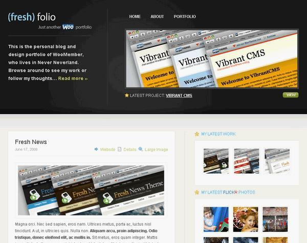 Fresh Folio Premium WordPress Theme