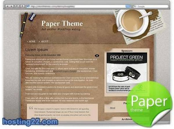 Crumpled Paper Burn WordPress Theme