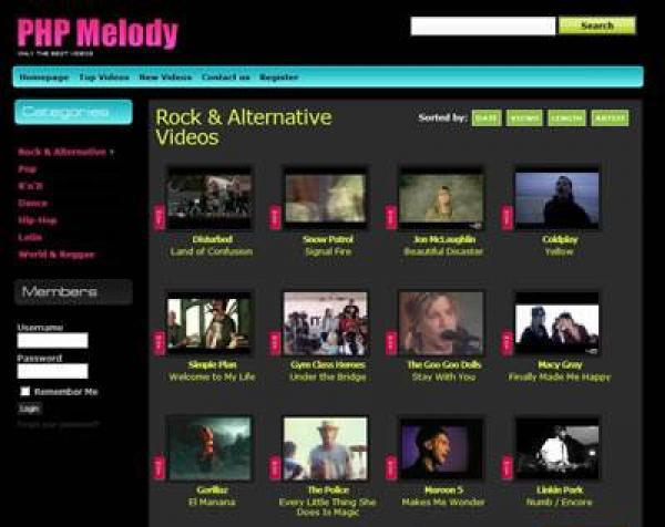 Dynamic PHP MELODY Template