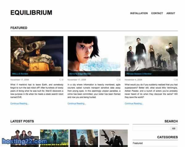 Equilibrium v1.4 Wordpress Theme