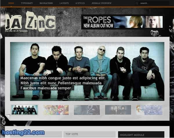 Ja Zinc v1.0 - 2nd December 08 Joomlart Template