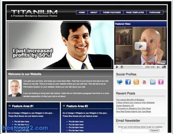 Titanium v1.0 Premium WordPress Theme