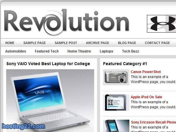 Revolution Tech v3.0 Premium Wordpress Theme