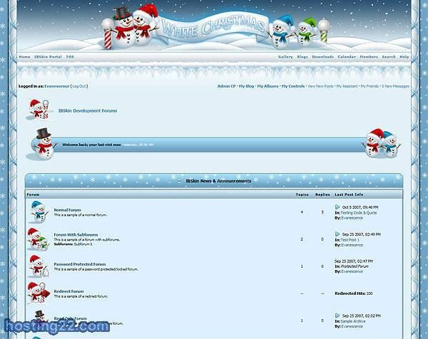 White Christmas IPB Skin Pack