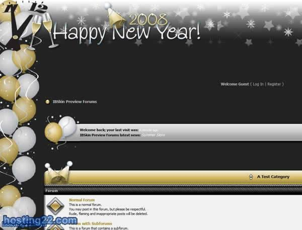 Happy New Year 2009 - IPB SKIN