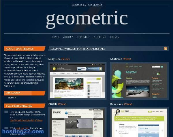 Geometric Premium Wordpress Themes version 1.1