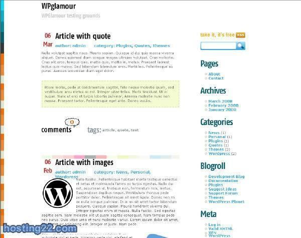 Bella wordpress theme