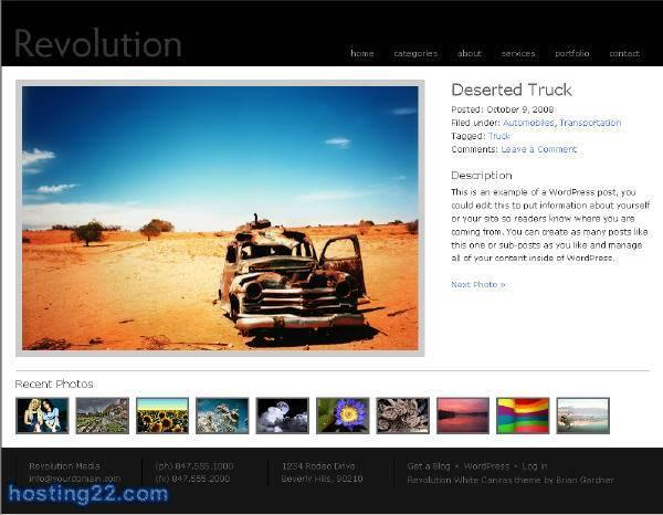White Canvas revolution2 Premium Wordpress Theme