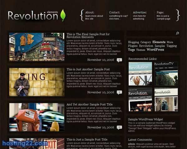 Elements Revolution2 Premium Wordpress Theme