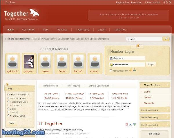 IT Together August 08 - Joomla Template