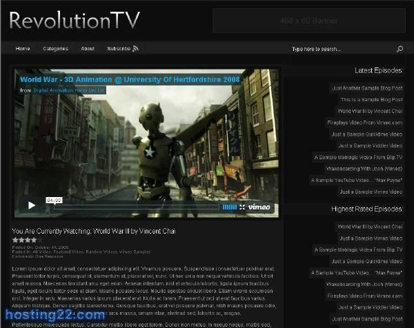 TV Revolution2 Premium Wordpress Theme