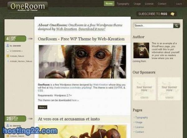 OneRoom - Wordpress Template