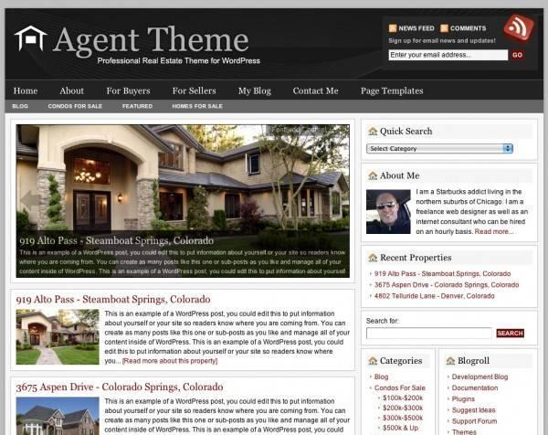 Agent v2.0 Premium WordPress Theme