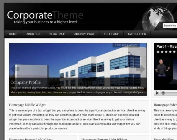 Corporate v1.0 Premium WordPress Theme