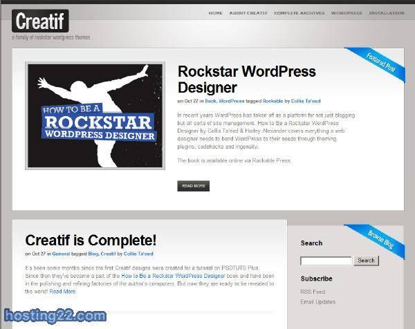 Creatif - Rockstar Premium Wordpress Theme