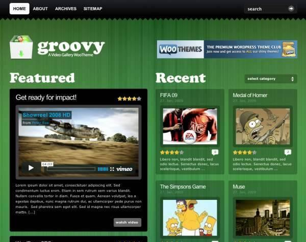 Groovy Video Premium Wordpress Theme