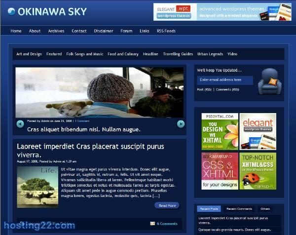 Okinawa Sky - Premium Wordpress Theme