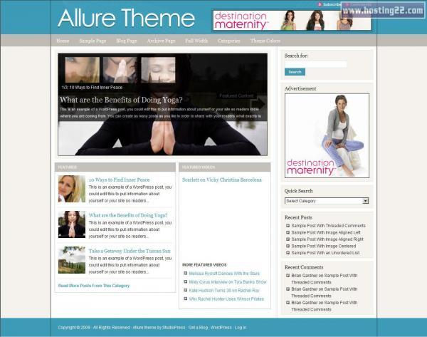allure V1.0 Premium WordPress Theme