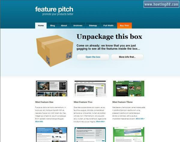 Feature Pitch Premium Wordpress Theme
