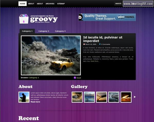 Groovy Blog Premium Wordpress Theme