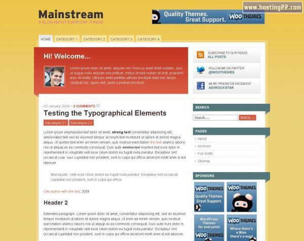 Mainstream Wordpress Theme