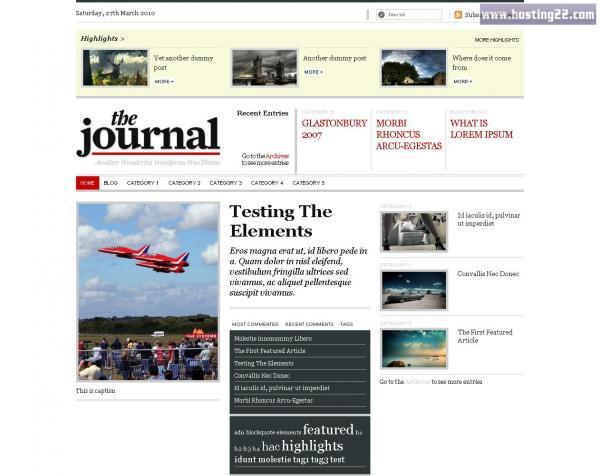 The Journal Premium Wordpress Theme