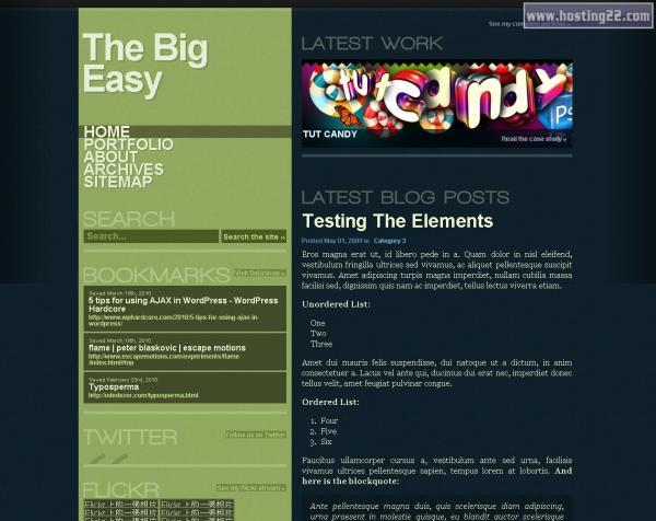 Big Easy Premium Wordpress Theme