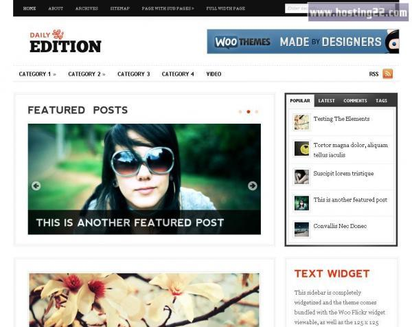 Daily Edition Premium Wordpress Theme