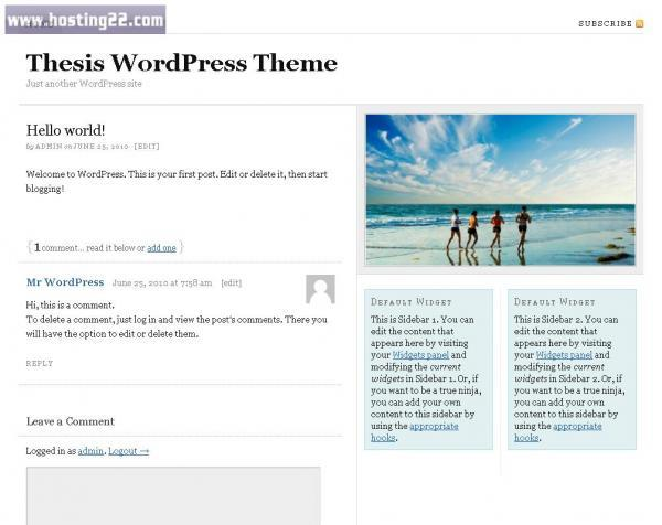 Thesis 1.7 Premium Wordpress Theme